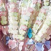 婚禮小物 250枝小花棉花糖-贈玫瑰小提籃1個-二次進場 (若須小卡另加3元請留言)幸福朵朵