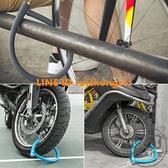 硅膠鋼纜鎖腳踏車鎖防盜山地車電動車摩托車鎖鏈條門鎖【輕派工作室】