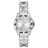 KARL LAGERFELD KARL 7系列搖滾星錐三針腕錶-銀x小