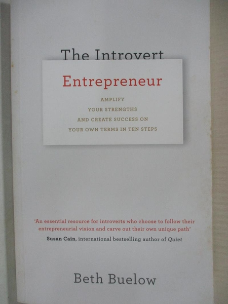【書寶二手書T5/財經企管_AG7】The Introvert Entrepreneur_Beth Buelow
