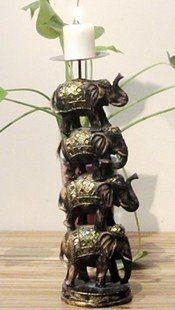 家居裝飾品/大象/羅漢四象燭台/擺設/擺件