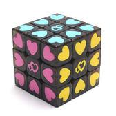 魔方透明三階愛心比賽專業貼片不掉色免運直出 交換禮物