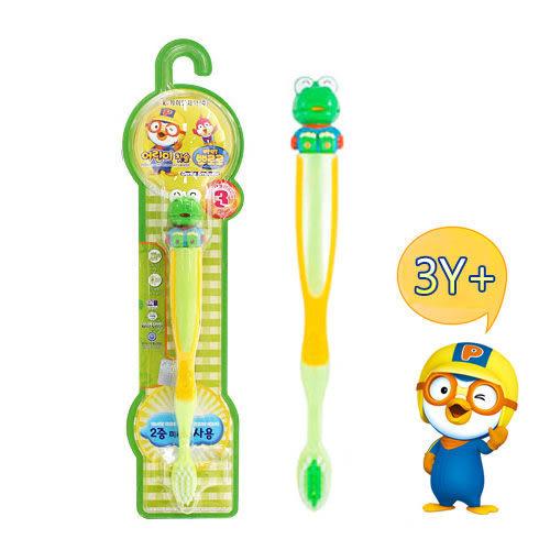 里和Riho 韓國KM 淘氣小企鵝 小恐龍卡龍 兒童牙刷 3歲以上適用 韓國製造 Pororo