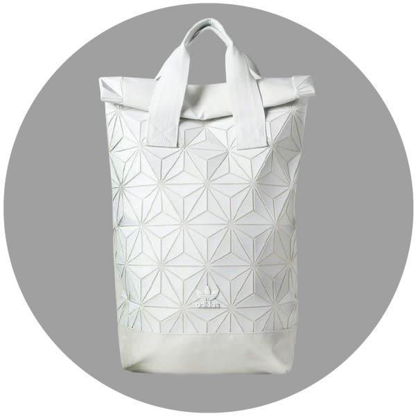 【現貨折卷後2780】CLASSICK adidas 白色 Roll Top Backpack 三宅一生  電腦包 後背包 BJ9562