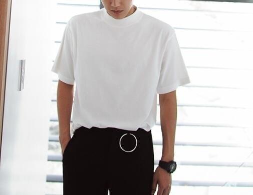 FINDSENSE MD 韓國 潮 男 時尚 簡單簡約 素面 小立領 短袖T恤