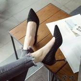 格紋高跟鞋尖頭淺口細跟紅色婚鞋貓跟單鞋