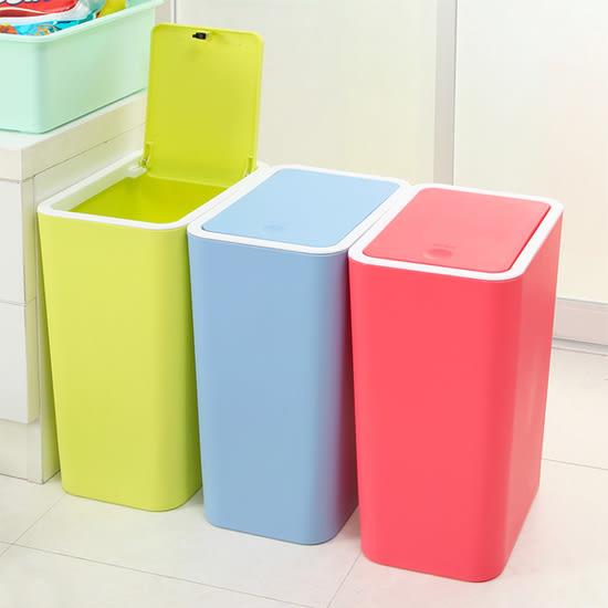 ✭米菈生活館✭【A20】按壓式彈蓋垃圾桶 廚房 浴室 客廳 衛生紙 分類 環保 時尚 落地 整潔 乾淨