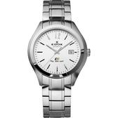 EDOX Class-1 紳士自動上鍊機械錶-銀/42mm E80062.3.AIN