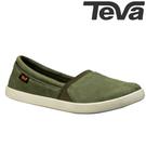 TEVA 《女款》Willow Slip on 極簡防水柔軟皮革套入式平底鞋 - 橄欖綠