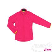 ASICS 亞瑟士 女彈性平織外套(桃紅)。XXK958-17