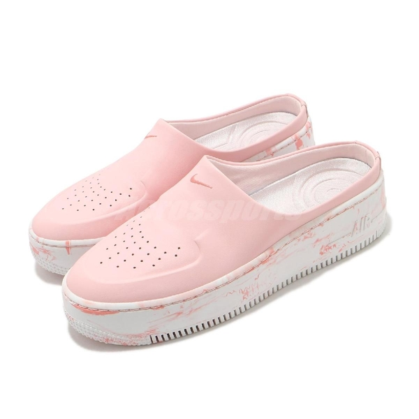 【海外限定】 Nike 穆勒鞋 AF1 Lover XX 粉紅 白 大理石中底 女鞋 涼拖鞋【ACS】 CK0895-661