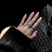 日式輕奢小眾設計戒指女潮人時尚個性復古冷淡風開口指環【毒家貨源】