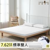 House Door 防黴防蹣抗菌7.62cm記憶床墊保潔超值組-雙人