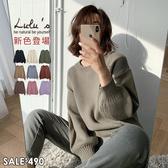 特價品-小姊姊Y自訂款-寬版澎袖針織上衣-9色 【01190764】