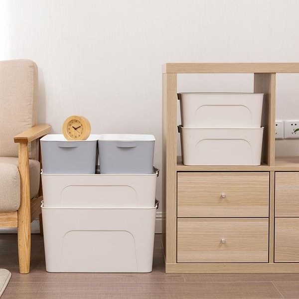 加厚收納箱塑料大號衣服收納盒有蓋衣櫃抽屜整理箱床底 NMS 露露日記