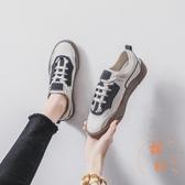 小白鞋休閒板鞋女帆布鞋百搭子韓版【橘社小鎮】