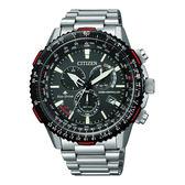 CITIZEN PROMASTER 航空電波光動能計時錶(CB5001-57E)-黑