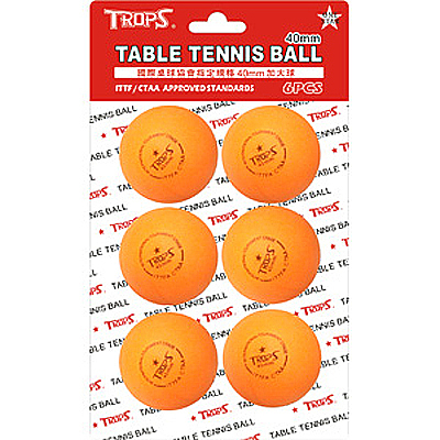 SUCCESS 成功 TROPS 一星桌球/乒乓球 4cm 橘 NO.4404 X 6入裝