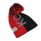 【南紡購物中心】MICHAEL KORS簡寫LOGO雙色圍巾-黑/紅