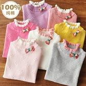 女童毛衣2020  寶寶線衣春秋款套頭針織衫兒童洋氣打底衫半高領小山好物