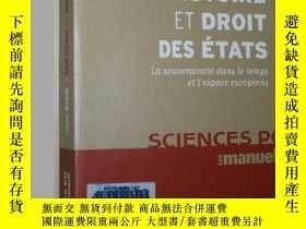 二手書博民逛書店法語原版書罕見Histoire et Droit des Eta