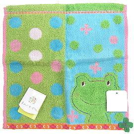 【波克貓哈日網】居家小方巾◇青蛙圖案◇《23 x 23cm》