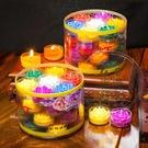酥油燈 七彩蓮花酥油燈64小時長明供燈天然植物酥油燈小旺燭紅黃無煙蠟燭【快速出貨八折搶購】