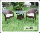 {{ 海中天休閒傢俱廣場 }} G-52戶外時尚 編藤桌椅系列 42-2 小沙發椅組(1桌2椅)
