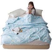 夏季水洗棉空調被雙人被子1.8m床學生宿舍夏被1.5米單人床上用品【無趣工社】