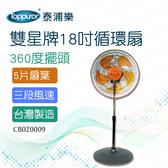 【泰浦樂】雙星牌18吋循環扇TS-1803 (CB020009)