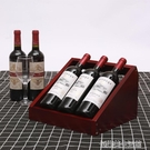 現代簡約紅酒擺架實木擺件紅酒柜展示架葡萄酒架客廳家用酒瓶架子 【優樂美】