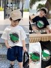 男童短袖 棉小班男童短袖t恤2021年夏季新款韓版寶寶恐龍半袖上衣兒童體恤 歐歐