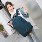 後背包 衣服旅遊後背包休閒被包大容量水桶包裝男士的帆布旅行李後背包包 維科特3C