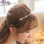 髮飾 韓國直送‧ 菱形十字水鑽髮箍-Ruby s 露比午茶