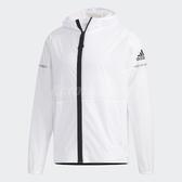adidas 風衣外套 WB Light Jacket 防風 白 黑 男款 落肩 高領口 【PUMP306】 FI8758