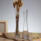 玻璃透明小花瓶桌面花插細長玫瑰花瓶迷你擺...