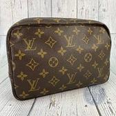 BRAND楓月 LOUIS VUITTON LV M47524 經典原花 化妝包 盥洗包 手拿包 隨身小包