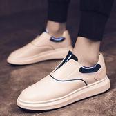 懶人鞋 春季潮鞋小白鞋男士運動休閒一腳蹬懶人板鞋子男韓版潮流百搭 唯伊時尚