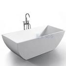 【麗室衛浴】BATHTUB WORLD YG7005  一體薄邊 壓克力造型獨立缸 150*75*58CM