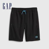 Gap男童 簡約風格鬆緊運動短褲 540268-純正黑色