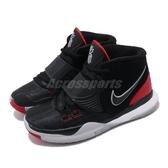 Nike 籃球鞋 Kyrie 6 PS 黑 紅 童鞋 中童鞋 運動鞋 【PUMP306】 BQ5600-002