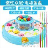 兒童釣魚玩具男孩女孩電動磁性小貓1-2-3-6歲寶寶益智玩具  麥琪精品屋
