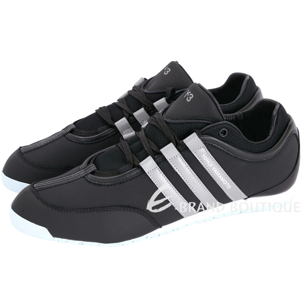 Y-3 QASA BOXING 拼接條紋綁帶休閒鞋(黑色) 1720037-01