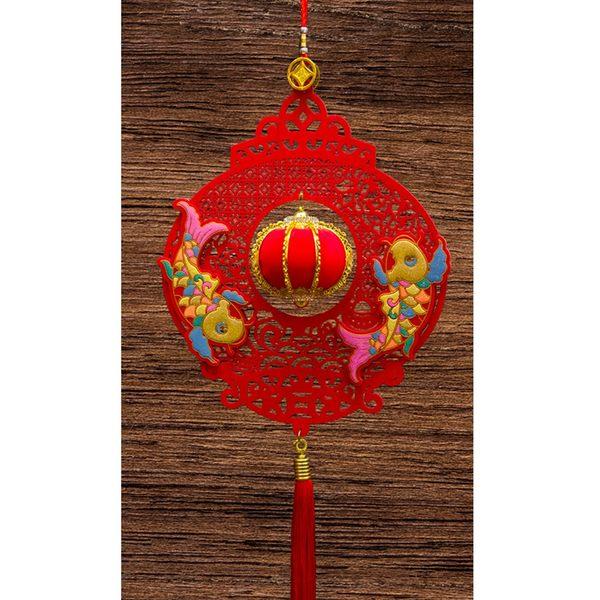 紅絨燈籠造型+立體小燈籠吊掛飾 家居風水辦公室裝飾  勝億開運招財飾品批發零售