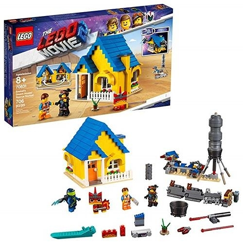 LEGO 樂高 MOVIE 2 Emmet s Dream House/Rescue Rocket! 70831 Building Kit, Pretend Play Toy House for kids age 8+ (706 Pieces)