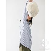 日系簡約條紋襯衫女寬鬆休閒基礎款中性風薄款bf男女同款襯衣【Kacey Devlin】