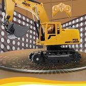 遙控車 大號合金電動遙控挖掘機 充電挖土機合金工程車模型 玩具鉤機男孩【快速出貨八折特惠】