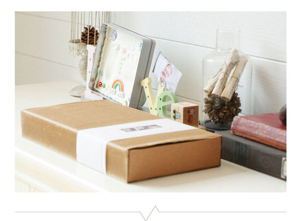 可愛紀錄寶寶足印手印成長相框 新生兒紀念套裝禮物
