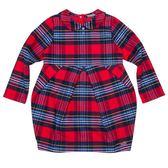 『小鱷魚童裝』法藍絨格紋洋裝(02號~10號)560304
