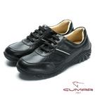 CUMARMIT 台灣製造 全真皮舒適綁帶休閒鞋-黑色